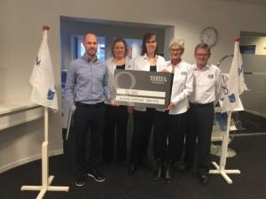 NHOs bestyrelse modtager Nordea-fondens tildeling, jan. 2018.